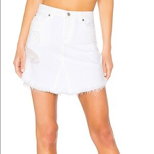 7 for all mankind white denim skirt
